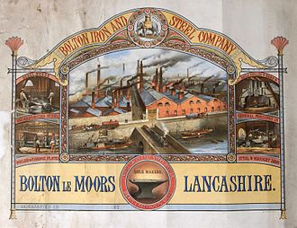 John Hick (politician) - Image: Bolton Iron and Steel Company certificate