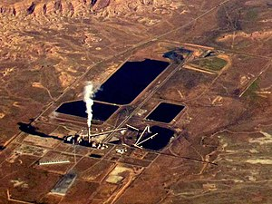 Deseret Power Railroad - Aerial photography of the Bonanza Power Plant, July 2011