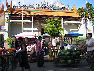 Chinese people in Myanmar - The Cantonese Chinese founded the Kwun Yam Temple in Latha Township, Yangon