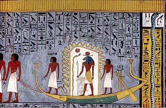 KV16 - Image: Book of Gates Barque of Ra