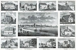 Borna, Leipzig - Borna and its buildings 1840