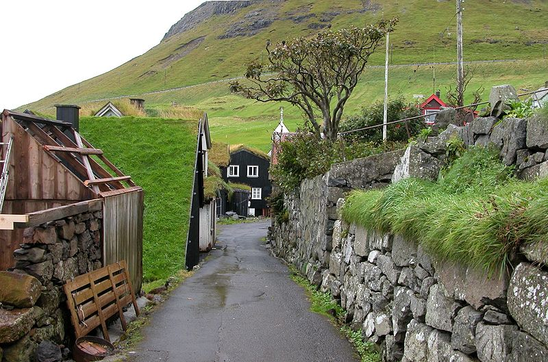 Village idyll in Bøur, Faroe Islands
