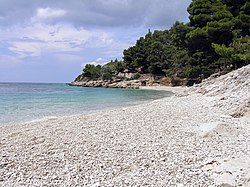 A beach on Brač