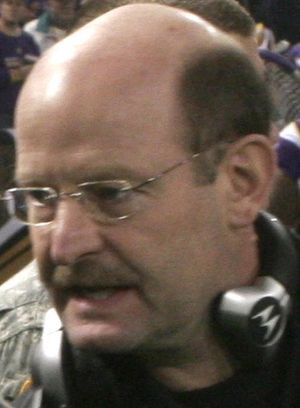 Minnesota Vikings Head Coach Brad Childress sh...