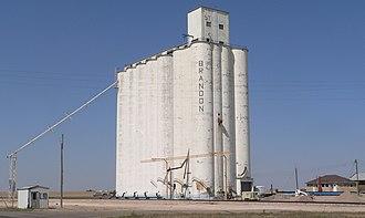 Brandon, Nebraska - Brandon, Nebraska grain elevator 1