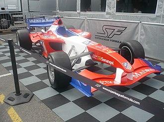 Atlético de Madrid (Superleague Formula team) - Image: Brands Hatch 2010 Atlético Madrid SF car