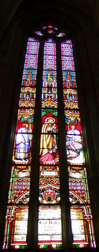 St Martin's Cathedral, Bratislava - Stained glass window