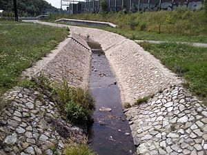 Vydrica (river) - Vydrica at Mlynská dolina, close to Sitina Tunnel