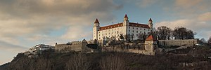 National Council (Slovakia) - Building of the National Council of the Slovak Republic next to Bratislava Castle.
