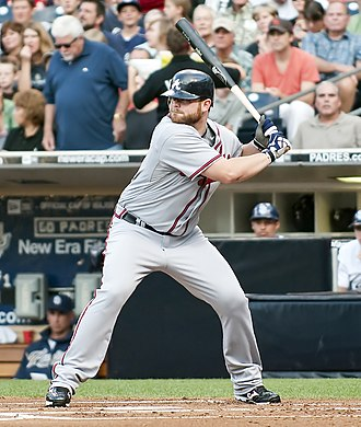 Brian McCann (baseball) - McCann with the Atlanta Braves