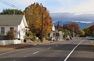 Ongaonga (town) - Bridge Street in 2016
