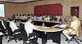 Brief presentation on Indian Space Programme by the ISRO Chairman, Dr. K. Radhakrishnan, at Sriharikota to Prime Minister, Shri Narendra Modi, in Andhra Pradesh on June 29, 2014.The Senior Space Scientists are also seen.jpg