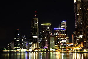 Northern End of Skyscrapers in Brisbane's Cent...