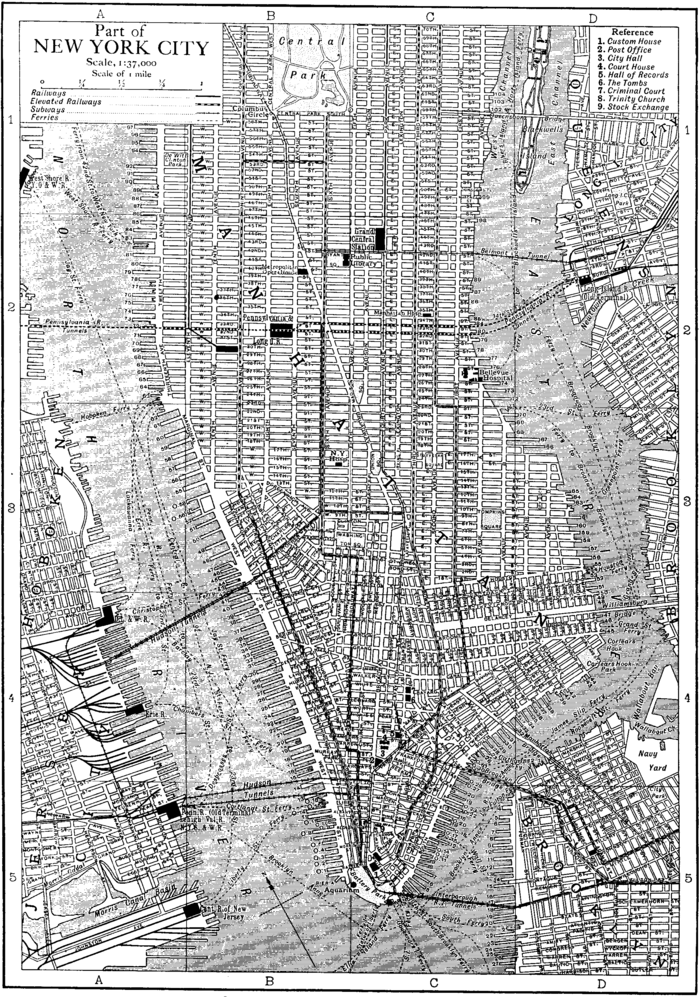 Free Map Of New York City.1911 Encyclopaedia Britannica New York City Wikisource The Free