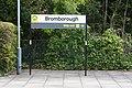 Bromborough station sign (28368570190).jpg