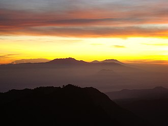 East Java - Eastern Salient of Java mountain range view from Bromo Tengger Semeru National Park at early morning