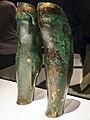 Bronze greaves (Leg Guards) from the tomb of Philip II of Macedon 4th century BCE Aigai, Vergina Greece.jpg