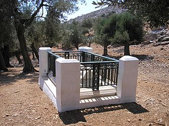 Rupert Brooke - Grave of Rupert Brooke on the Greek island of Skyros