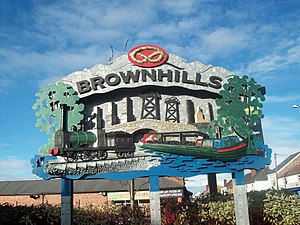 Brownhills - Image: Brownhills Sign