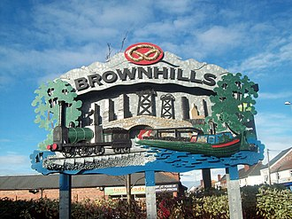 Brownhills - Image: Brownhills Sign