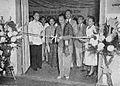 Bu Sudiro cutting the ribbon, Tambahan dan Pembetulan Pekan Buku Indonesia 1954, p6.jpg