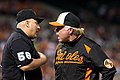 Buck Showalter argues with the umpire (8761311471).jpg