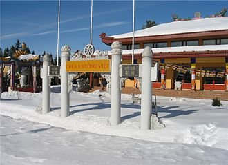 "Religion in Norway - The Vietnamese ""Khuông Việt"" pagoda at Løvenstad near Oslo, the only of its kind in Norway."
