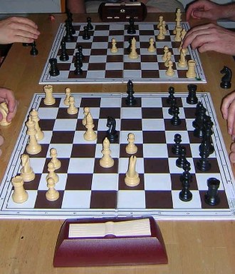 Chessboard - Chessboards during a match of Bughouse.