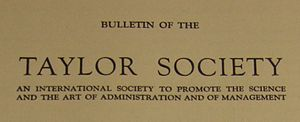 Taylor Society - Bulletin of the Taylor Society masthead