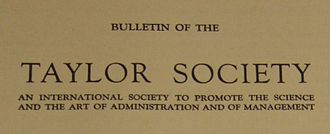 Taylor Society - Bulletin of the Taylor Society masthead