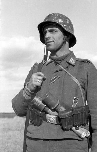 Luftwaffe Field Division - An Obergefreiter of a Luftwaffe Field Division in Russia, March 1942