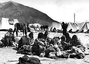 Golok people - Golok camp (photo taken at the 1938–1939 German expedition to Tibet)