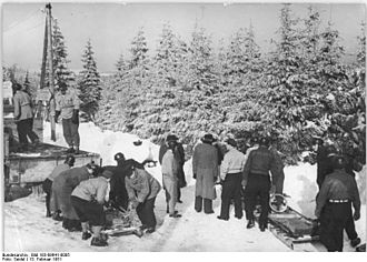 Thuringian Forest - 1951 winter sport championships in Oberhof
