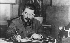 Communist Party of the Soviet Union - Joseph Stalin, leader of the party from 1924 to his death in 1953.