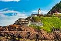 Bunkers And Lighthouse St John Harbour Newfoundland (26493520867).jpg