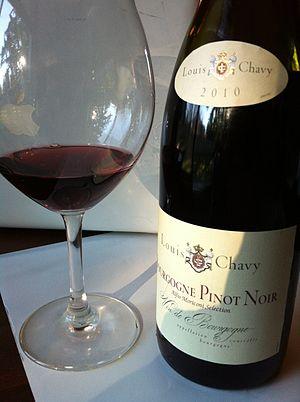 Burgundy wine - An AOC Bourgogne Pinot noir.
