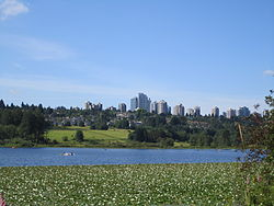 Metrotown Burnaby from Deer Lake