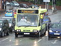 Bus on Brayford Way in the rain, Lincoln, England - DSCF1591.JPG