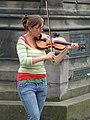 Busker outside St Giles Cathedral, Edinburgh - geograph.org.uk - 505977.jpg