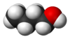 Spacefill model of n-butanol