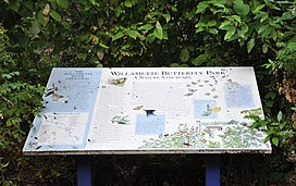 Interpretive sign at park