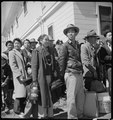 Byron, California. The moment has come for these farm families of Japanese ancestry to board the bu . . . - NARA - 537466.tif