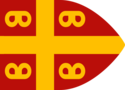 Byzantine imperial flag, 14th century according to Geoffrey of Villehardouin.png