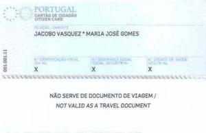 Citizen Card (Portugal) - Reverse of a Cartão de Cidadão issued to a Stateless Person