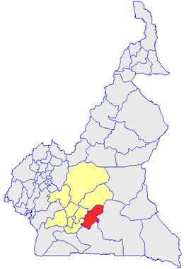 Department location in Cameroon