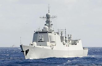 Type 052C destroyer - Image: CNS Haikou (DDG 171) in Rim of the Pacific (RIMPAC) Exercise 2014
