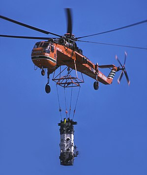 "CN Tower - Skycrane ""Olga"" lifting antenna segment"