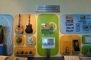 Connecticut Science Center - Items invented in CT on the Wall of Invention and Ingenuity
