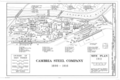 Cambria Steel Company, Site Plan 1911 - Cambria Iron Company, East side of Conemaugh River, Johnstown, Cambria County, PA HAER PA,11-JOTO,135- (sheet 6 of 8).png