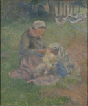 Camille Pissarro, A Wool-Carder, 1880, L721, National Gallery.png